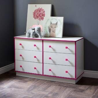 Nola 6 Drawer Double Dresser Kidsroom Decor Furniture Double Dresser