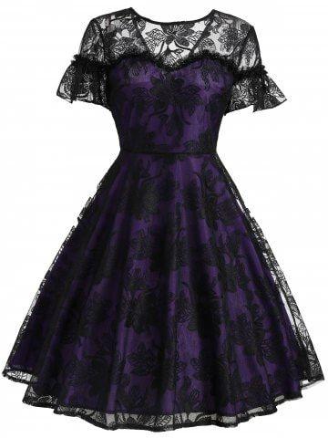 18++ Black and purple dress information