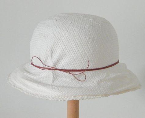 2650f34801b438 white summer hat/ white cloche hat/ summer cloche hat for ladies/ cute  summer hat/ white event hat/