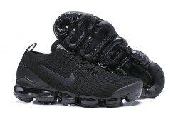 22045efc3 Nike Air Vapormax Flyknit 2019 Triple Black AJ6900-004 Women's Men's  Running Shoes