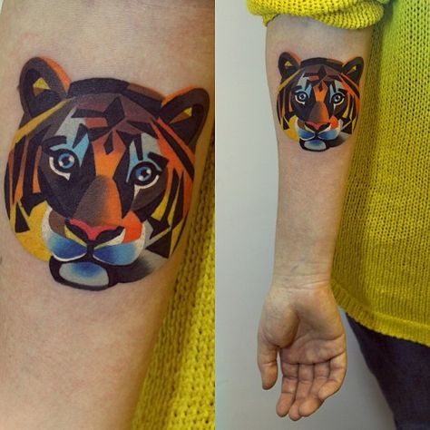 Gorgeous Colorful Watercolor Tattoos by Sasha Unisex
