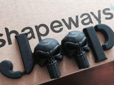 3d Punisher Skull Emblem For Jeeps Jk Willys Font 3d Printed