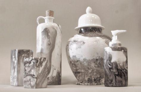 Marmorering av Porselen Enkel DIY