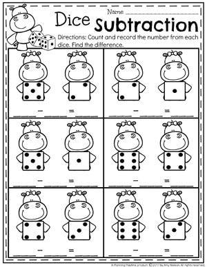 Subtraction Worksheets Subtraction Worksheets Kindergarten