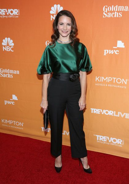 Kristin Davis attends The Trevor Project's 2017 TrevorLIVE LA Gala.