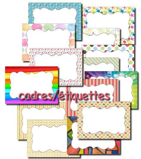 cadres / étiquettes à personnaliser - La classe de Laurène