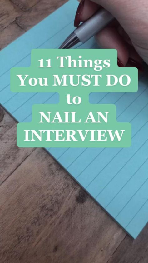 11 Tips to Nail an Interview