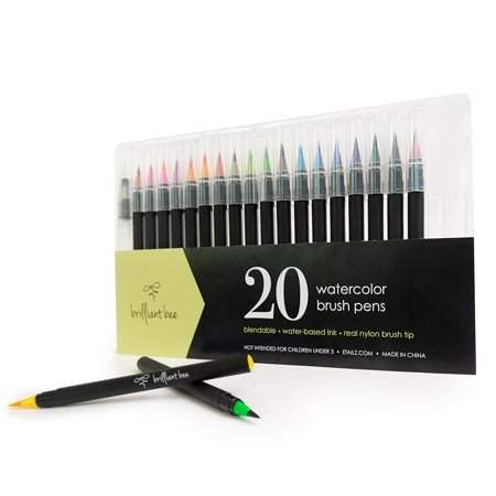 Brilliant Bee Watercolor Brush Pens For Painting And Calligraphy