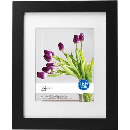Mainstays Flatwide 4 X 6 Picture Frame Black Walmart Com In 2020 Picture Frames Wood Picture Frames Small Art Prints