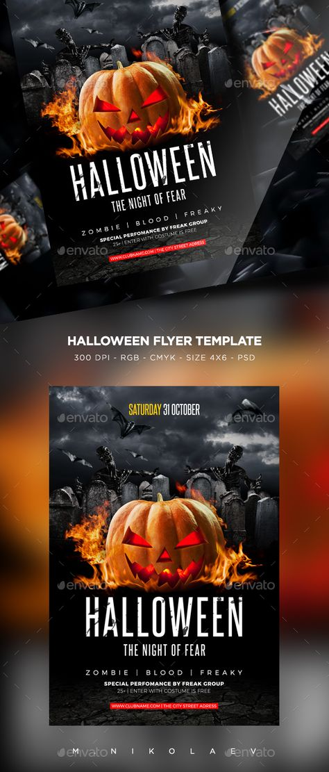 Halloween Flyer Template V  Flyer Template And Template