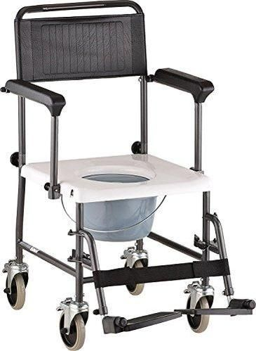Caremax Mobile Commode Chair Wheelchair Toilet With Wheels Padded
