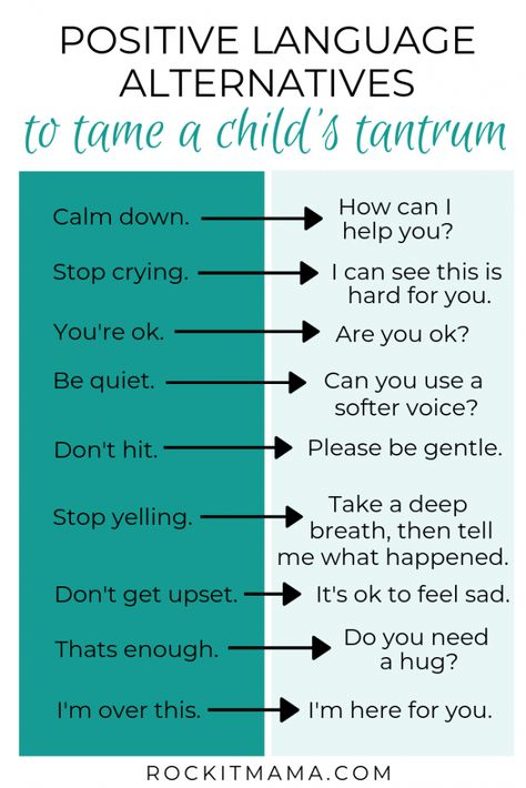 Use these 5 Simple Tips for Taming Tantrums to deescalate meltdowns and preserve your sanity. Post includes a list of positive language alternatives to calm the situation. How to stop toddler tantrums. Tamer young living in older children. Tips for calming preschool tantrums. Positive language alternatives for toddlers. Growth mindset positive language for kids. Positive language quotes for kids. #toddlertantrums #positivelanguage #preschooltantrums #growthmindset #positiveparenting