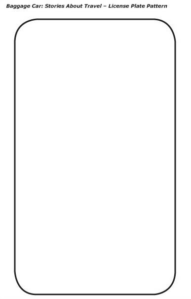 Blank License Plate Coloring Page License Plate Coloring Pages
