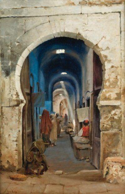 Richard Fuchs 1852 Avant 1916 Rue Couverte De La Medina De