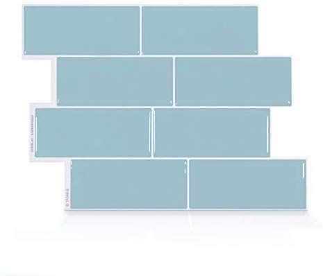 Amazon Com Smart Tiles Premium Authentic Peel And Stick Subway Style Backsplash Self Adhesive Wall Tiles 4 Sh In 2020 Smart Tiles Self Adhesive Wall Tiles Wall Tiles