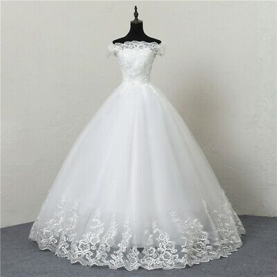 Ebay Ad Wedding Dresses Lace Boat Neck Off The Shoulder Ball Gown Princess Plus S Ebay Wedding Dress Lace Princess Wedding Dresses Lace Wedding Dress Vintage