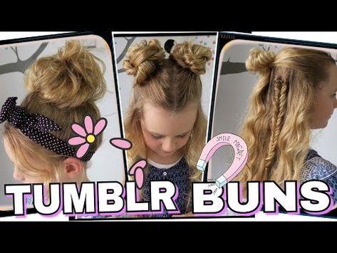 3 tumblr bun/dutt frisurencoole mädchen zöpfe&frisuren