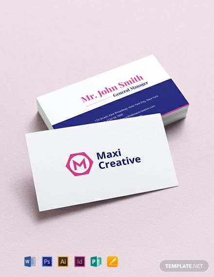 Creative Agency Business Card Template Word Doc Psd Indesign Apple Mac Pages Illustrator Publisher Agency Business Cards Creative Agency Business Card Business Card Template Word