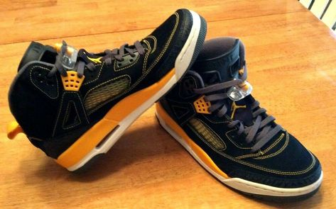 7afc5960cdbe22 NIKE Air Jordan Spizike V 5 Spike Lee Mars Black Gold 315371-030 Sneakers  Sz 10  Nike  BasketballShoes