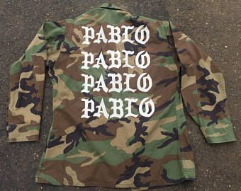 Yeezus Pablo Tlop Camo Jacket Tour Bleached Distressed Kanye West Purpose Tour Calabasas I Feel Like Pablo Yeezy Yeezus Merch Camo Jacket Yeezus Merch Jackets