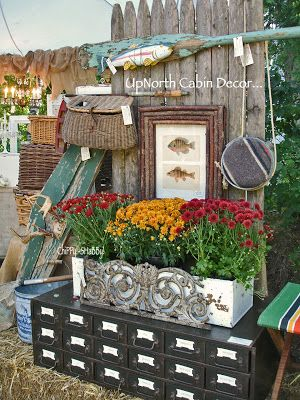 Chippy Shabby Vintage Upnorth Cabin Decor Fall