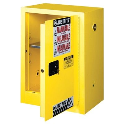 Compac 12 Gallon Yellow Storage Cabinet For Flammable Liquids Safety Cans With Manual Door Yellow Storage Storage Storage Cabinet