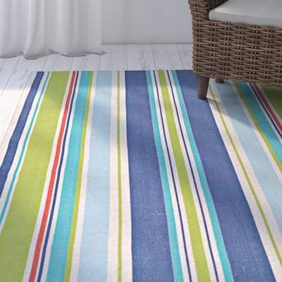 Highland Dunes Artique Handwoven Flatweave Cotton Multicolor Area Rug Highland Dunes Rug Size Rectangle 2 X 3 Area Rugs Blue Area Rugs Rugs
