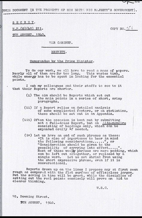This Memo From Winston Churchill On Brevity Is All You