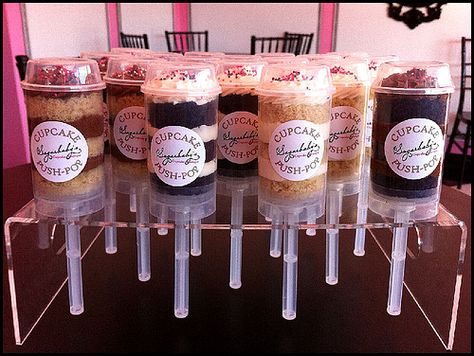 Cupcake Push Pops! What a crazy/awesome idea.