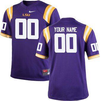 Derribar con las manos en la masa científico  LSU Tigers Nike Youth Custom Football Jersey – Purple in 2020 | Custom  baseball jersey, Custom jersey football, Baseball jersey outfit