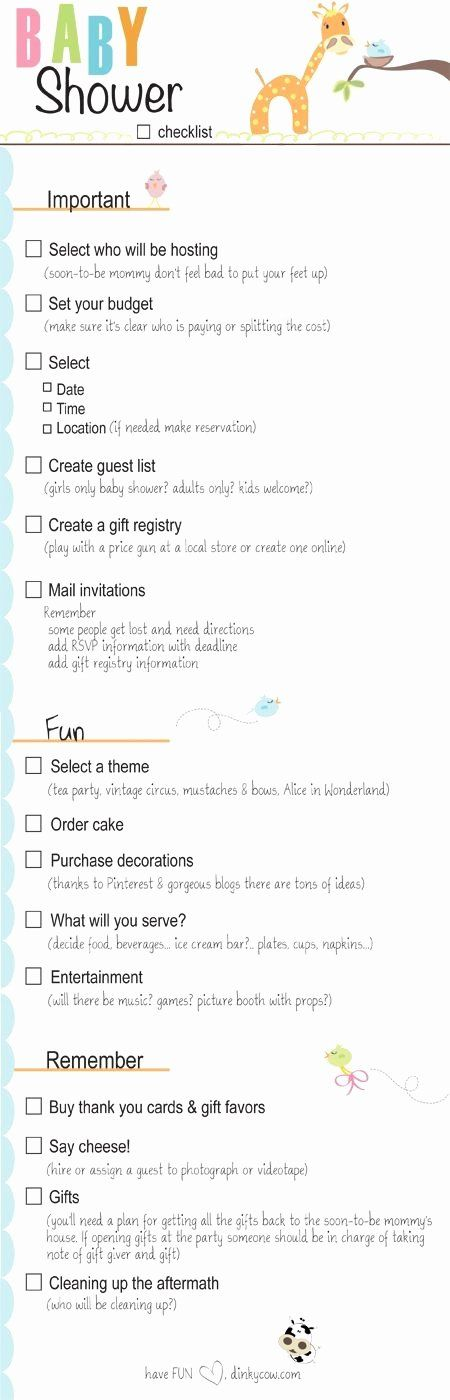 Baby Shower Checklist Baby Shower Checklist Baby Shower Planning Checklist Baby Shower Planning
