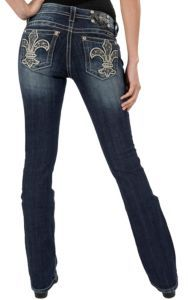 Miss Me® Women's Dark Wash Medieval Fleur De Lis Boot Cut Jean | Cavender's