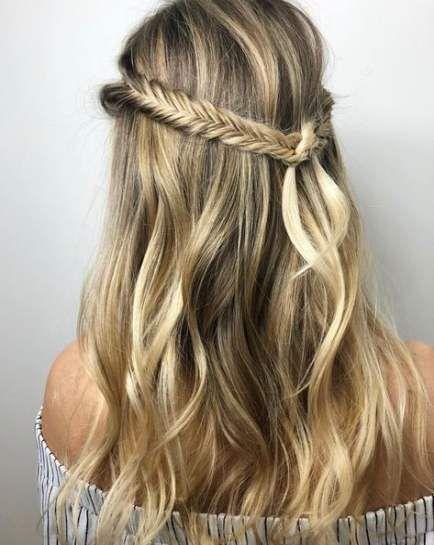 25 Ideas Hair Braids Two Beach Waves For 2019 Blonde Hair Color Beach Wave Hair Trendy Hair Color