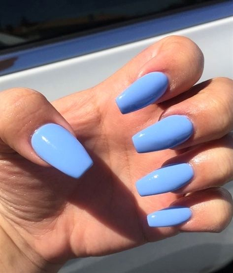 Have A Look At Our Coffin Acrylic Nail Ideas With Different Colors Trendy Coffin Nails Acrylic Nail Blue Acrylic Nails Short Acrylic Nails Best Acrylic Nails