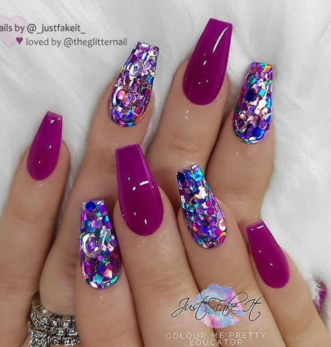 46 Elegant Acrylic Ombre Burgundy Coffin Nails Design For Short And Long Nails - Page 36 of 46 Nails nail designs