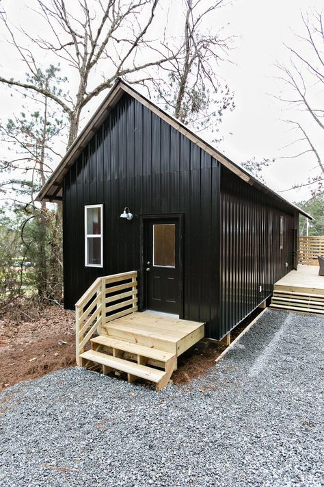 happy small house design for the tiny house movement - - Tiny House Cabin, Tiny House Living, Tiny House Design, Small House Plans, Tiny Cabins, Modern Cabins, Cottage Design, Prefab Guest House, Cheap Tiny House