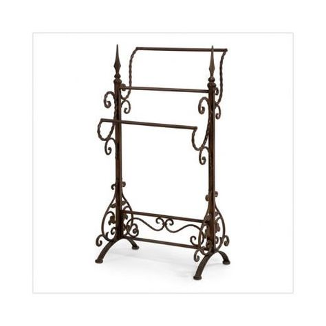 Wrought Iron Scroll Quilt Stand Kitchen With Images Quilt Rack