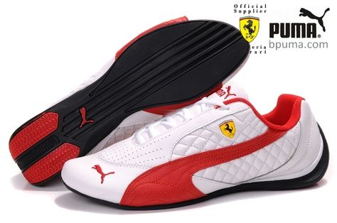 Puma Ferrari Induction Sneakers White Red  2440850e76