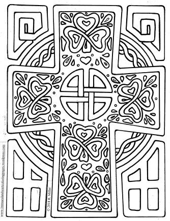 St Patrick S Day A Celtic Cross To Color Cross Coloring Page