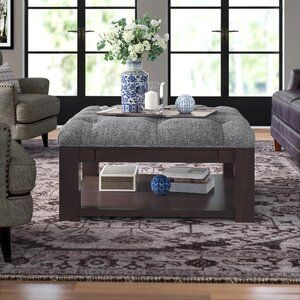 Abshire 38 Tufted Square Cocktail Ottoman Cocktail Ottoman Ottoman Storage Ottoman