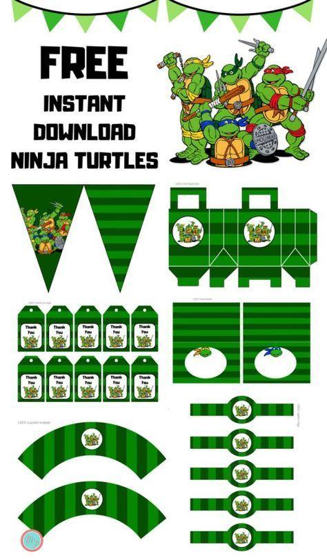 Free Teenage Mutant Ninja Turtles Party Printables Mutant Ninja Turtles Party Teenage Mutant Ninja Turtles Party Teenage Mutant Ninja Turtles Birthday Party
