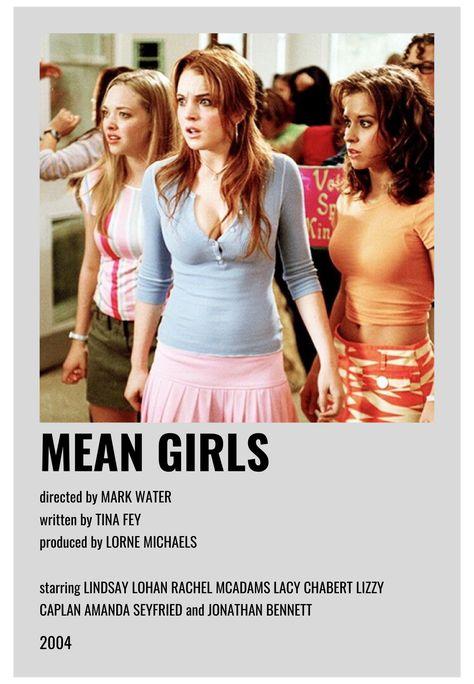 minimal movie posters mean girls
