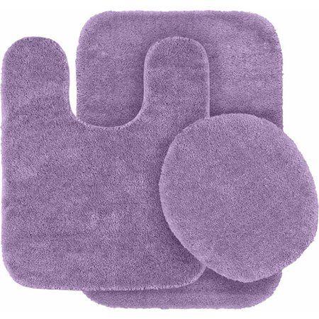Home Purple Bath Rugs Washable