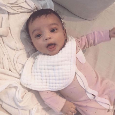 Reality TV star, Kim Kardashian West has shared an adorable photo of baby Chicago West early Saturday morning, to acknowledge her fans on social media.
