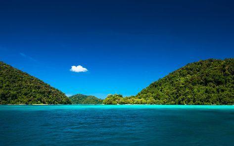 Telecharger Fonds D Ecran Bleu Lagon L Ocean L Ile Tropicale Jungle Voyage D Ete Thailande Besthqwallpapers Com Ile Tropicale Jungle Paysage