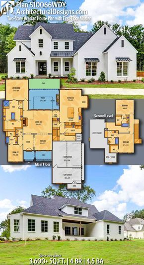 Plan 510066wdy Two Story Acadian House Plan With First Floor Master Acadian House Plans House Plans How To Plan