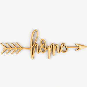Home Arrow Wood Sign Wall Du00e9cor Perfect Arrow Home Arrow Wood Sign Wood Signs Home Decor Wood Sign Art