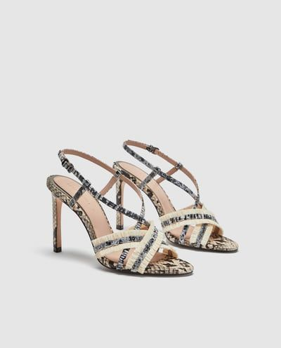 fb26faa40277b SNAKESKIN PRINT LEATHER SANDALS-View all-SHOES-WOMAN | ZARA United ...
