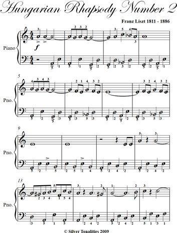 Hungarian Rhapsody Number 2 Easy Piano Sheet Music Ebook By Franz Liszt Rakuten Kobo In 2021 Easy Piano Sheet Music Easy Piano Piano Sheet