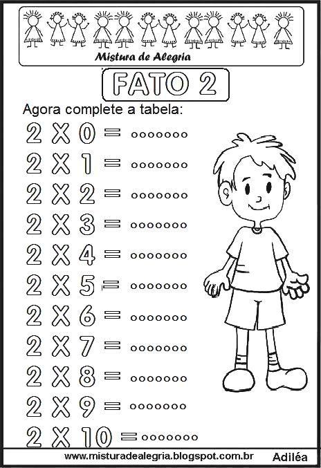 Pin De Maga Targino Em Matematica Tabuada Atividades De